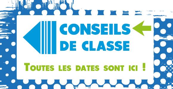 PLANNING DES CONSEILS DE CLASSE